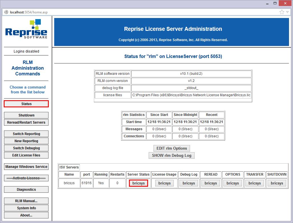 Network license server administration – BricsCAD Help Center