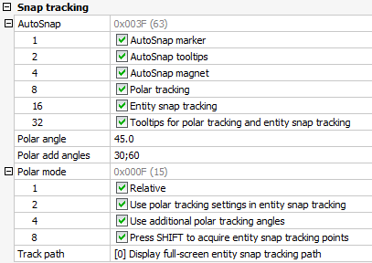 Polar Tracking – BricsCAD Help Center