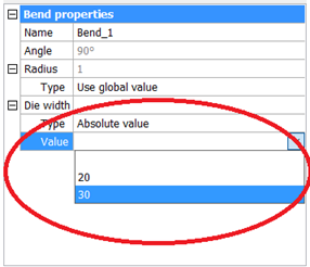 Bend Table – BricsCAD Help Center