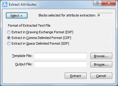 Extracting attribute information – BricsCAD Help Center